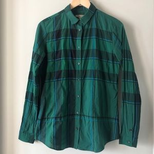 Burberry Brit small women's blouse green plaid